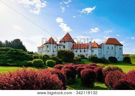 Castle On Street In Old City Of Varazdin In Croatia