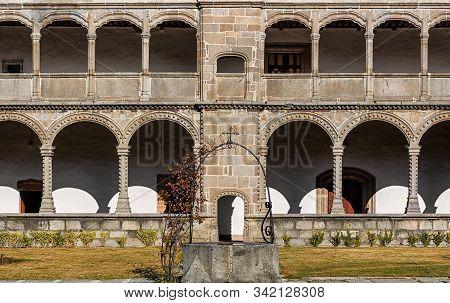 Cloister Of The Monastery Of Santo Tomas In Avila. Spain.