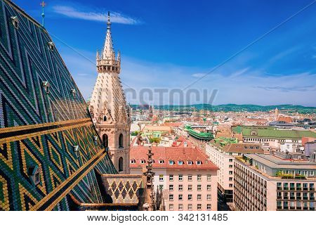 Cityscape With Stephansdom Church In Old City Center In Vienna