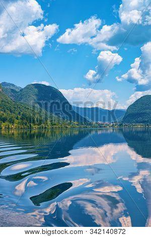Scenery Bohinj Lake Of Slovenia With Nature