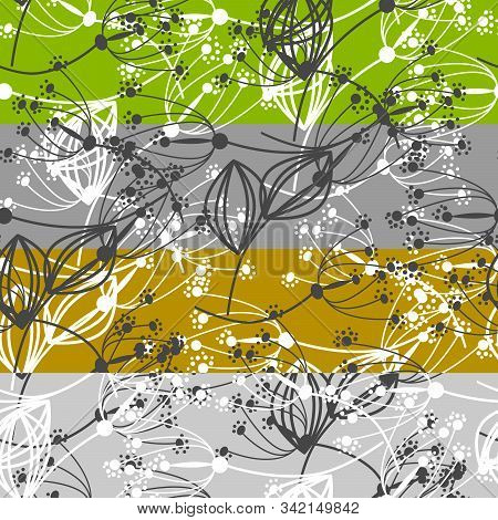 Seamless Floral Blue Small Flowers Pattern Background