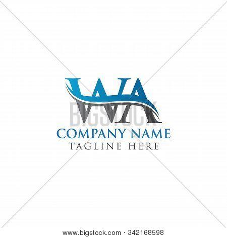 Initial Wa Letter Linked Logo. Creative Letter Wa Modern Business Logo Vector Template. Wa Logo Temp
