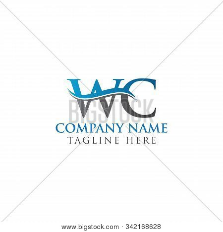 Initial Wc Letter Linked Logo. Creative Letter Wc Modern Business Logo Vector Template. Wc Logo Temp