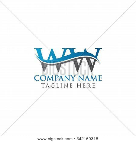 Initial Ww Letter Linked Logo. Creative Letter Ww Modern Business Logo Vector Template. Ww Logo Temp