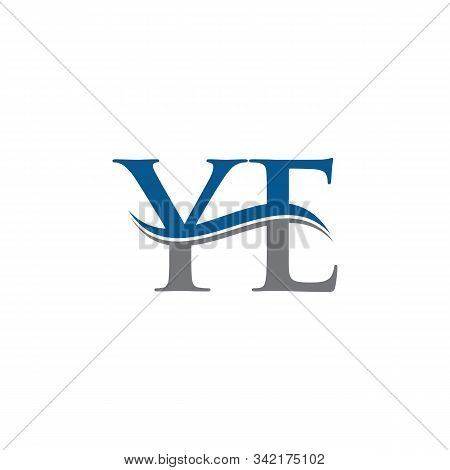 Initial Ye Letter Logo With Creative Modern Business Typography Vector Template. Creative Letter Ye
