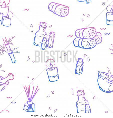 Spa Therapy Seamless Vector Photo Free Trial Bigstock