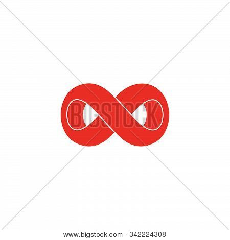 Infinity Curves Overlapping 3d Design Symbol Logo Vector