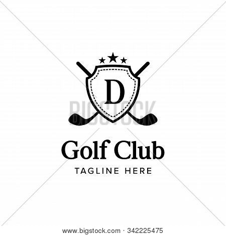 Vintage Golf Club Emblem Logo Iconic. Branding For Golf Clubs, Course, Tournament, Games, Championsh