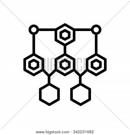 Black Line Icon For Structure Framework Frame Draft