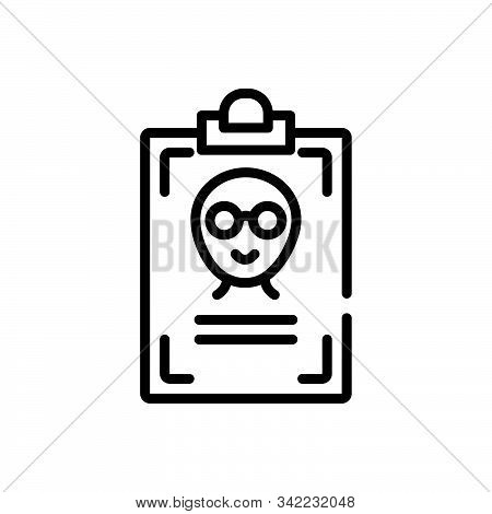 Black Line Icon For Name Title First-name Appellation Sobriquet Id-card Identity