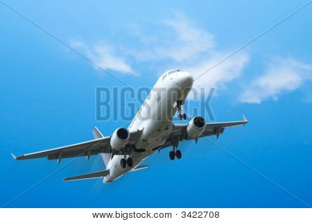 Corporate Jet Airplane Taking Off
