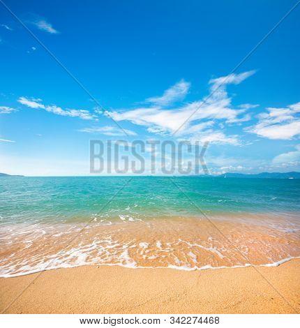 beautiful sandy beach and tropical sea