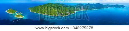 Aerial view panorama koh Tao, Thailand
