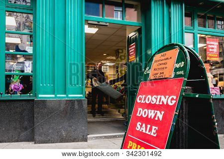 Closing Down Sale - Prices Slashed - No Reasonable Offers Refused - Last Day To Day - On A Street Si