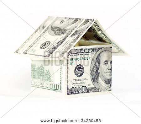 Abstract dollars concept means mortgage or hypothecation
