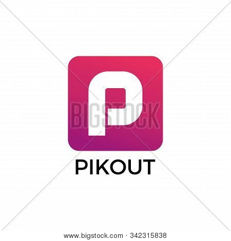 Initial Letter P Logo With Colorful Gradient Typography Vector Template. Creative Abstract Letter P