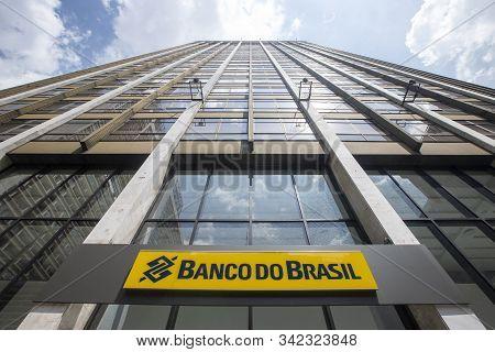 Facade Of Banco Do Brasil Branch