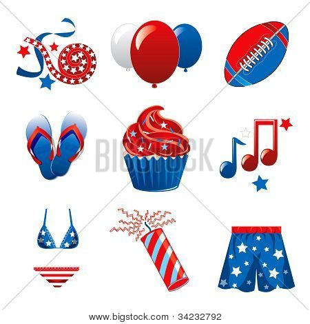 July 4Th Party Icons