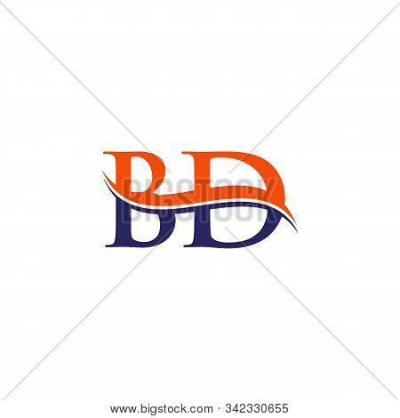 Bd Letter Logo Design Vector With Blue And Grey Colors. Bd Logo Design.