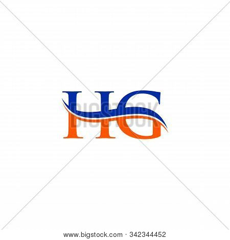 Hg Letter Type Logo Design Vector Template. Abstract Letter Hg Logo Design