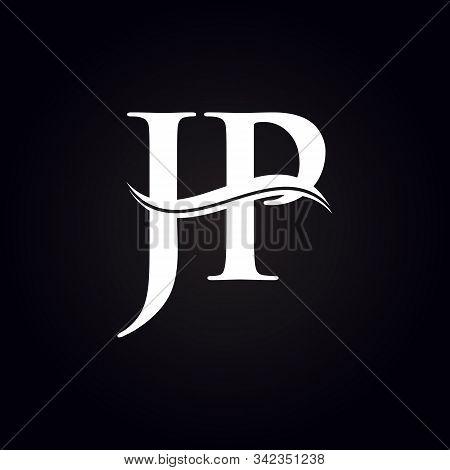 Jp Letter Type Logo Design Vector Template. Abstract Letter Jp Logo Design