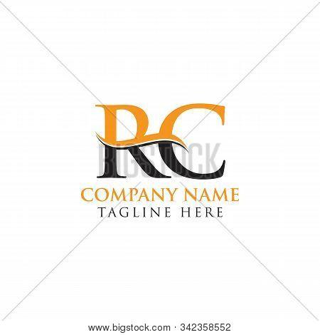 Swoosh Letter Rc Logo Design Vector Template. Rc Letter Logo Design.