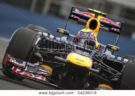 VALENCIA, SPAIN - JUNE 22: Mark Webber in the Formula 1 Grand Prix of Europe, Valencia Street Circuit. Spain on June 22, 2012