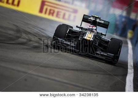 VALENCIA, SPAIN - JUNE 22: Vitaly Petrov in the Formula 1 Grand Prix of Europe, in Valencia Street Circuit, Spain on June 22, 2012