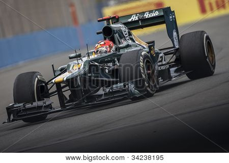 VALENCIA, SPAIN - JUNE 22: Heikki Kovalainen in the Formula 1 Grand Prix of Europe, in Valencia Street Circuit, Spain on June 22, 2012