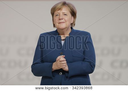 Hamburg,germany,may 2019,germany Chancellor Angela Merkel Was Applauded After Her Speech