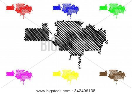 Garden Grove City (united States Cities, United States Of America, Usa City) Map Vector Illustration