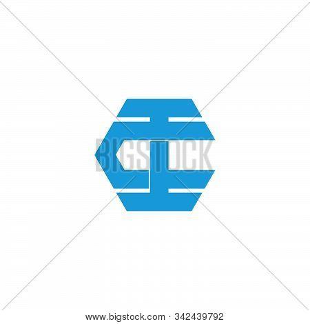 Letter Ct Overlapping Geometric Symbol Logo Vector