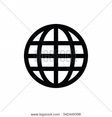 World Wide Web Concept Globe Icon Set. Planet Web Symbol Set. Globe Icons For Websites. Globe Symbol