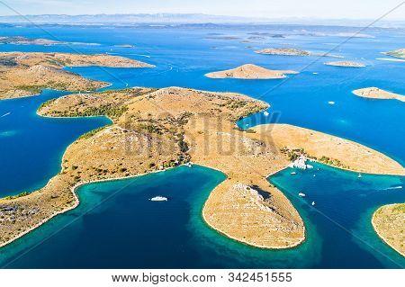 Kornati. Aerial View Of Famous Adriatic Sea Sailing Destination, Kornati Archipelago National Park.