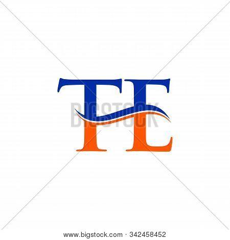 Swoosh Letter Te Logo Design Vector Template. Te Letter Logo Design