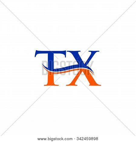 Swoosh Letter Tx Logo Design Vector Template. Tx Letter Logo Design