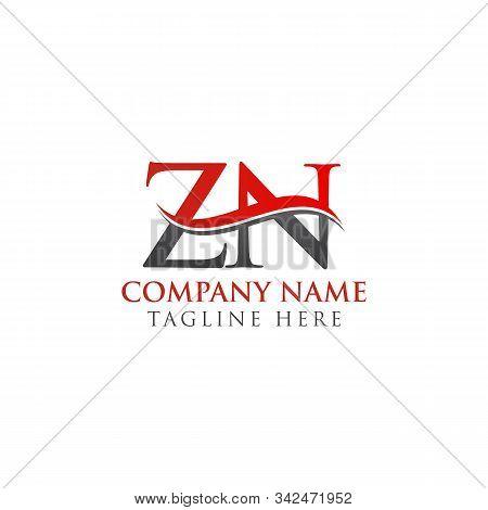 Initial Zn Letter Linked Logo Vector Template. Creative Letter Zn Logo Vector.