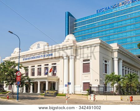Ho Chi Minh City, Vietnam - January 30, 2016: Building Of The Ho Chi Minh Stock Exchange