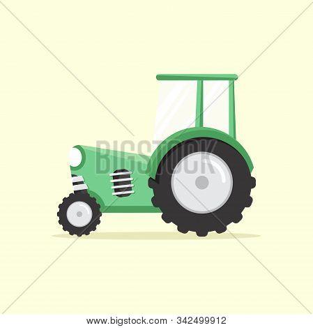 Agricultural Tractor Flat, Agricultural Tractor Design, Agricultural Tractor Vector, Agricultural Tr