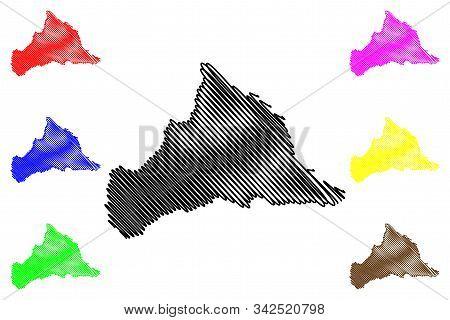 Cerro Largo Department (departments Of Uruguay, Oriental Republic Of Uruguay) Map Vector Illustratio
