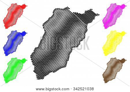 Lavalleja Department (departments Of Uruguay, Oriental Republic Of Uruguay) Map Vector Illustration,