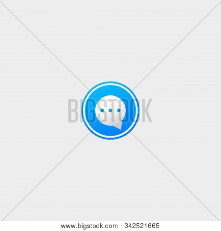 Letter O Bubble Chat Vector Logo Template