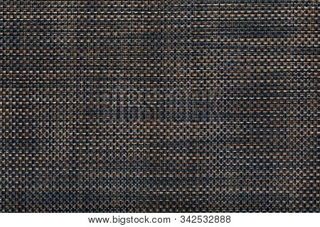 Weaving Pattern Of Interwoven Fibers. Fiber Braided Texture Background. Synthetic Fabric. Membrane F