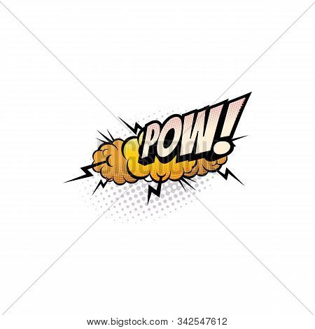 Sound Blast, Pow Bubble Comic Book Cartoon Icon. Vector Pow Sound Cloud, Explosion Boom Bang, Superh