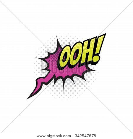 Sound Blast, Ooh Bubble Chat, Comic Book Cartoon Icon. Vector Ooh Exclamation Sound Cloud Explosion,