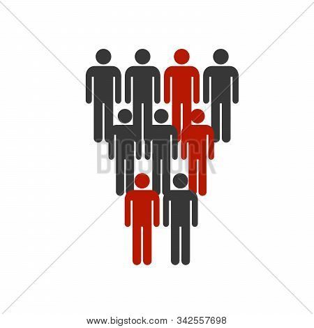 Peoples Group Icon Vector. Stock Vector Illustration Isolated On White Background.