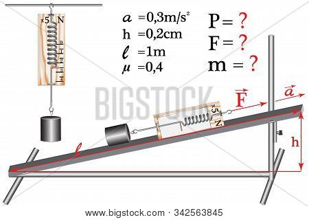 A Physical Task, Simple Mechanisms - An Inclined Plane Along Which The Load Moves, The Dynamometer R