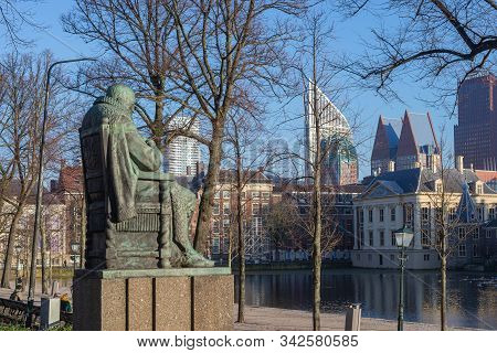 The Hague, Netherlands, December 29, 2019, Monument To The Dutch Statesman And Diplomat Johan Van Ol