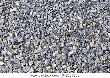 Gravel Gray Rock Background Texture. Abstract Gravel Background.
