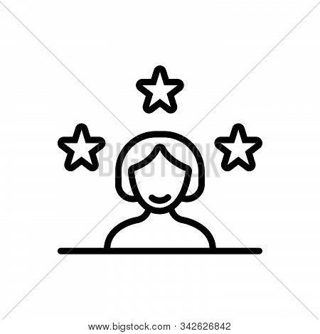 Black Line Icon For Customer Client Subscriber Clientele Underwriter Purchaser Kharidaar Vendee
